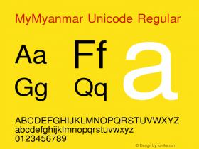 MyMyanmar Unicode Regular Version 9.005图片样张