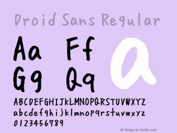 Droid Sans Regular Version 1.00 build 114 Font Sample