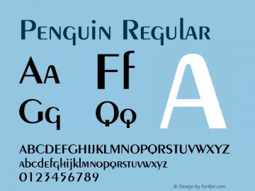 Penguin Regular 001.003 Font Sample