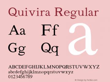 Quivira Regular Version 3.7 Font Sample