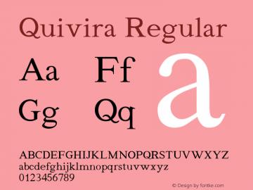 Quivira Regular Version 4.0 Font Sample