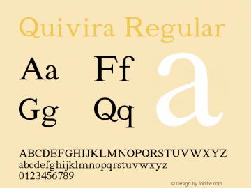 Quivira Regular Version 3.8 Font Sample