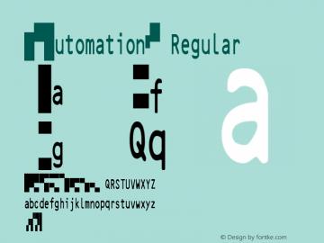 IDAutomation2D Regular IDAutomation.com 2015 2D Universal Font图片样张