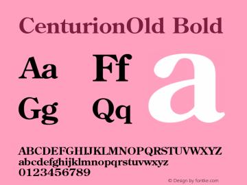CenturionOld Bold v1.00 Font Sample