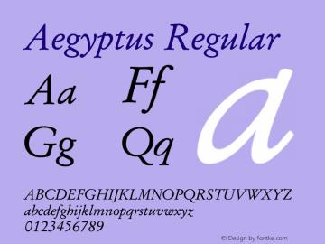 Aegyptus Regular Version 2.01图片样张