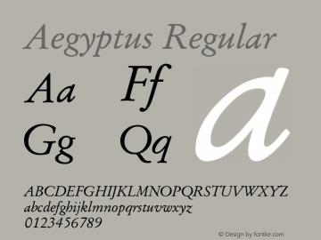 Aegyptus Regular Version 2.52图片样张