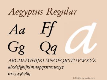 Aegyptus Regular Version 3.11图片样张