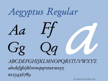 Aegyptus Regular Version 3.13图片样张