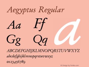 Aegyptus Regular Version 4.01图片样张