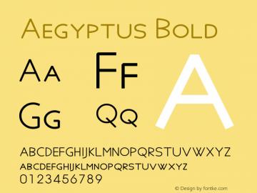 Aegyptus Bold Version 5.03图片样张