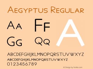 Aegyptus Regular Version 5.03图片样张