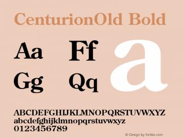 CenturionOld Bold 1.0 Tue Nov 17 23:46:18 1992 Font Sample