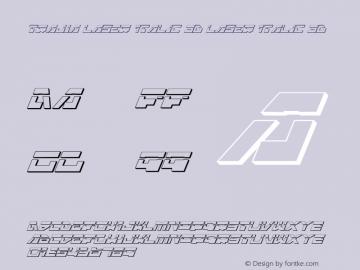 Trajia Laser Italic 3D Laser Italic 3D 1.0; 2008 Font Sample