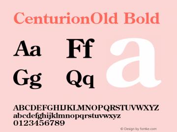 CenturionOld Bold 001.003 Font Sample