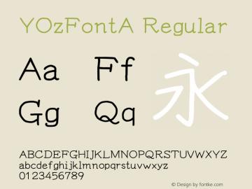 YOzFontA Regular Version 12.18图片样张