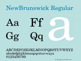 NewBrunswick Regular v1.0c Font Sample