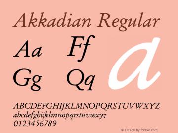 Akkadian Regular Version 7.04 Font Sample