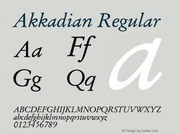 Akkadian Regular Version 7.13 Font Sample