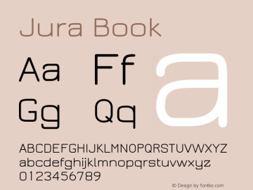 Jura Book Version 2.5 Font Sample