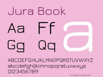 Jura Book Version 2.5 Font Sample