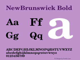 NewBrunswick Bold v1.0c Font Sample