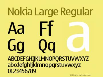 Nokia Large Regular 001.000 Font Sample