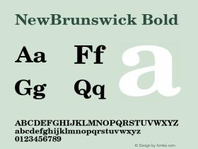 NewBrunswick Bold 1.0 Tue Nov 17 22:48:33 1992 Font Sample