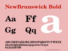 NewBrunswick Bold 001.003 Font Sample