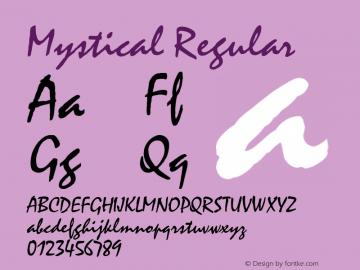 Mystical Regular v1.0c Font Sample