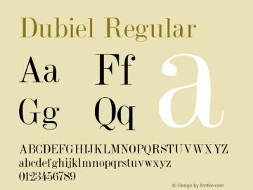 Dubiel Regular Converted from c:\true4\DUBIEL.TF1 by ALLTYPE Font Sample