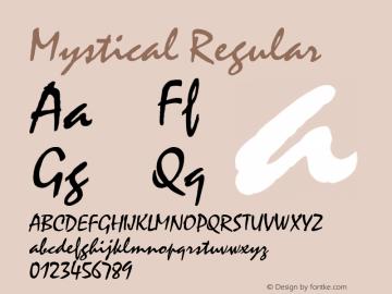 Mystical Regular 001.003 Font Sample