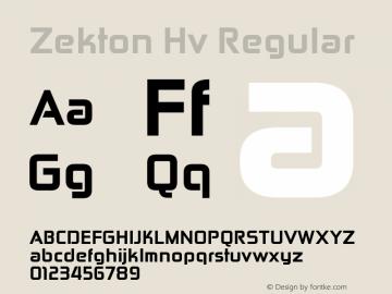 Zekton Hv Regular Version 3.000图片样张