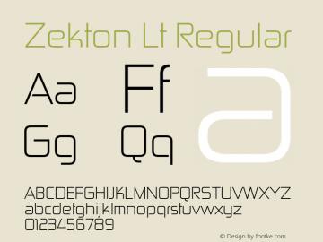 Zekton Lt Regular Version 3.000图片样张