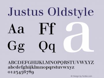 Justus Oldstyle Version 001.000 Font Sample