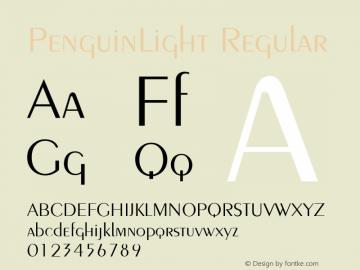 PenguinLight Regular v1.0c Font Sample