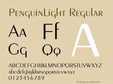 PenguinLight Regular 001.003 Font Sample