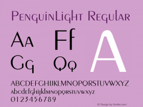PenguinLight Regular 001.003 Font Sample