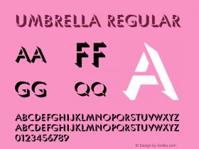 Umbrella Regular v1.0c Font Sample