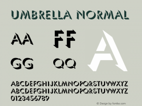 Umbrella Normal 1.0 Wed Nov 18 13:59:24 1992 Font Sample