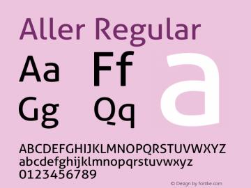 Aller Regular Version 1.00 Font Sample