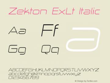 Zekton ExLt Italic Version 3.000图片样张