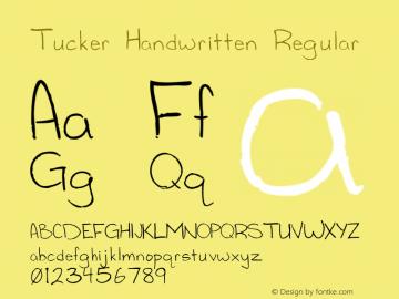 Tucker Handwritten Regular Version 1.000图片样张