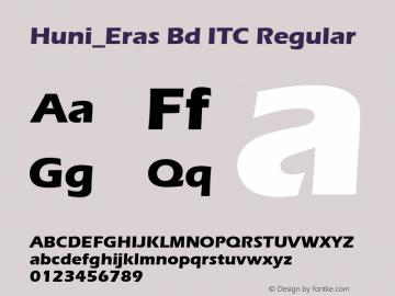 Huni_Eras Bd ITC Regular 1.0, Rev. 1.65  1997.06.06 Font Sample