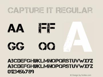 Capture it Regular Version 1.3 January 30, 2009, initial release Font Sample