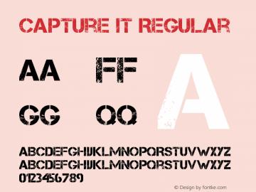 Capture it Regular Version 1.5 Jun 2, 2009, initial release Font Sample