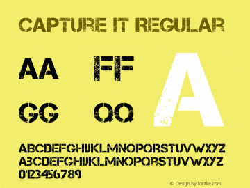 Capture it Regular Version 1.61 Dec 9, 2011, initial release Font Sample