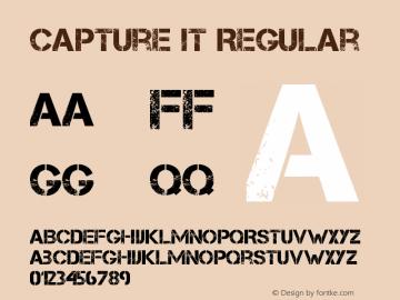 Capture it Regular Version 1.7 October 31, 2012 Font Sample