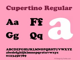Cupertino Regular v1.0c Font Sample