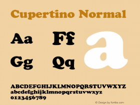 Cupertino Normal 1.0 Wed Nov 18 00:16:29 1992 Font Sample