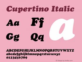Cupertino Italic 1.0 Wed Nov 18 00:14:05 1992 Font Sample